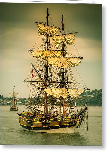 Lady Washington Sailing Vessel Greeting Card