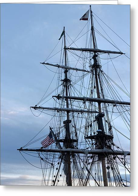 Lady Washington's Masts Greeting Card