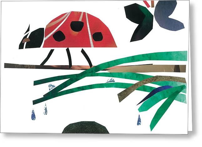 Ladybug Greeting Card by Earl ContehMorgan