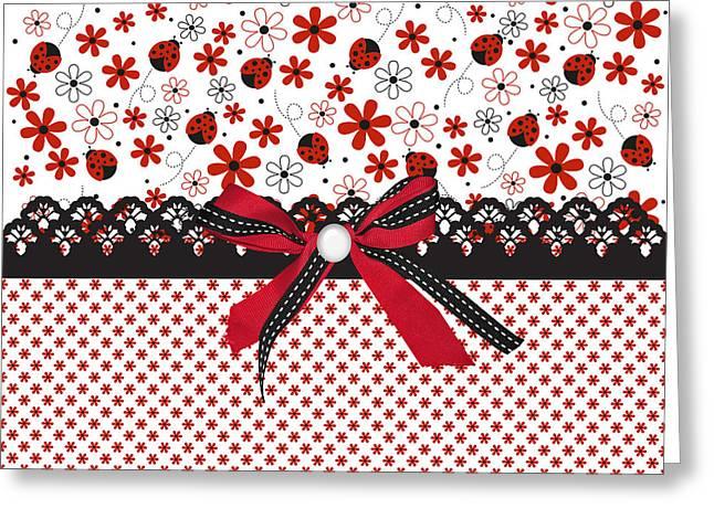 Ladybug Whisper  Greeting Card by Debra  Miller
