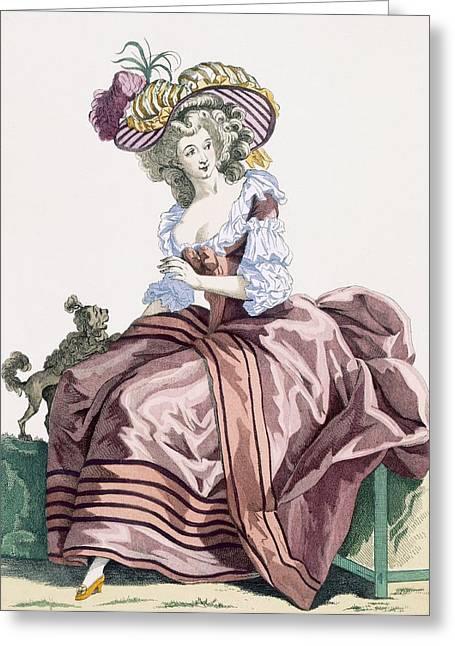 Ladys Elegant Caramel Coloured Satin Greeting Card