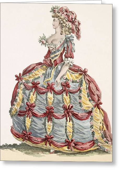Ladys Gown For Cour A Leiquette Greeting Card