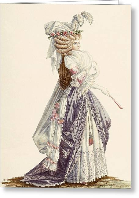 Ladys Robe A La Grecque, From Galeries Greeting Card