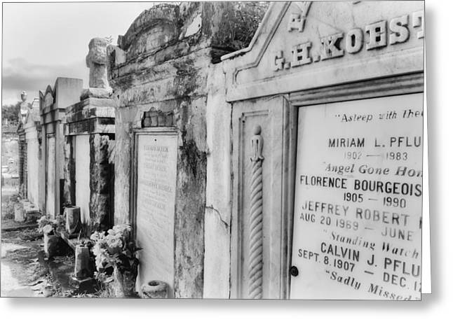 Lafayette Cemetery Black And White Greeting Card