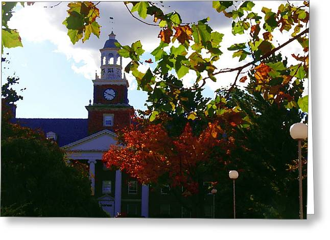 Lafayette College - Easton Pa Greeting Card by Jacqueline M Lewis