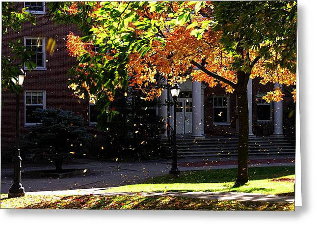 Lafayette College Easton Pa In Autumn Greeting Card by Jacqueline M Lewis