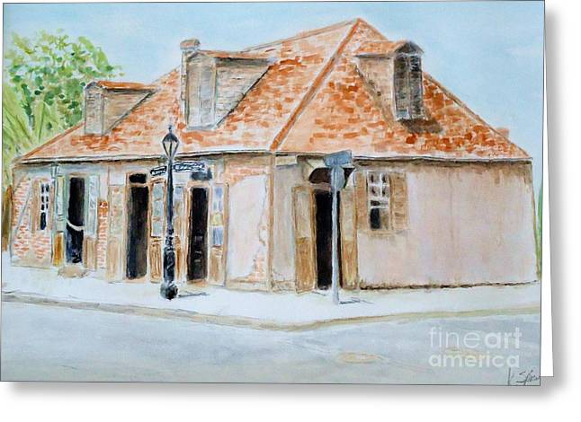 Lafitte's Blacksmith Shop Greeting Card by Katie Spicuzza