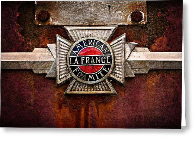 Lafrance Badge Greeting Card by Mary Jo Allen