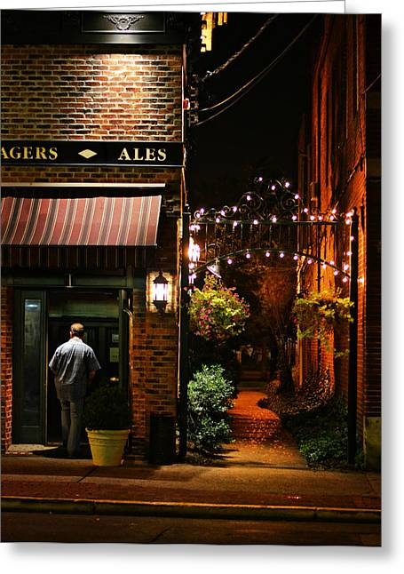 Lagers And Ales Greeting Card by Laura Fasulo
