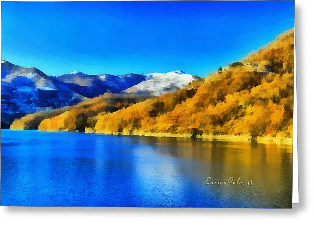 Greeting Card featuring the photograph Lago Del Brugneto - Brugneto Lake by Enrico Pelos