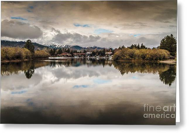 Lagoon At Cove East Greeting Card by Mitch Shindelbower