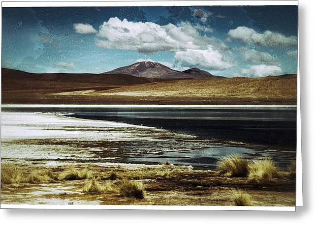 Lagoon Grass Bolivia Vintage Greeting Card by For Ninety One Days