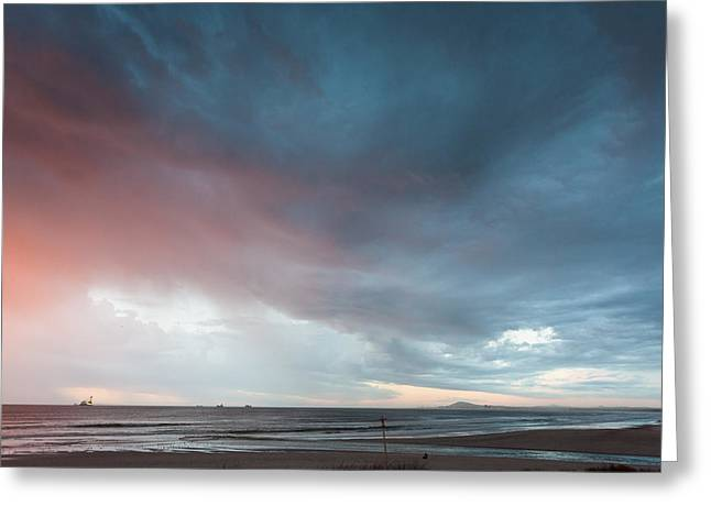 Lagoon Mouth Sunset Greeting Card