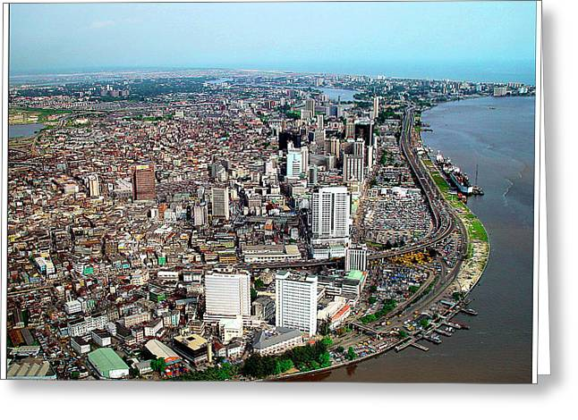 Lagos Greeting Card by Alex Bartel/science Photo Library