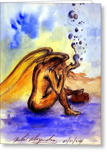 Lagrimas De Angel Greeting Card by Ruben Santos