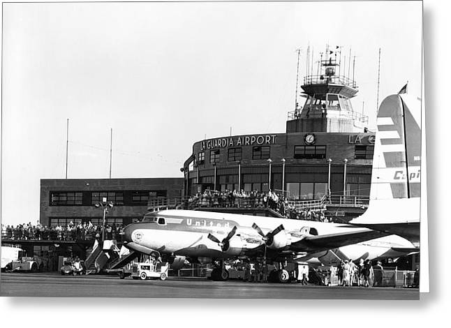 Laguardia Airport In Queens Greeting Card by Underwood Archives