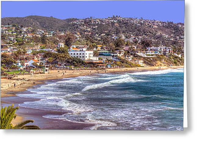 Laguna Beach Coast Panoramic Greeting Card