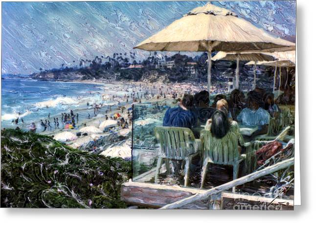Laguna Beach Hotel Afternoon Greeting Card