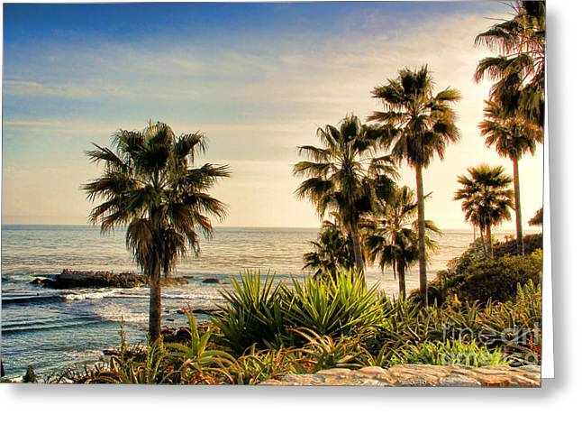 Laguna Beach Greeting Card by Mariola Bitner