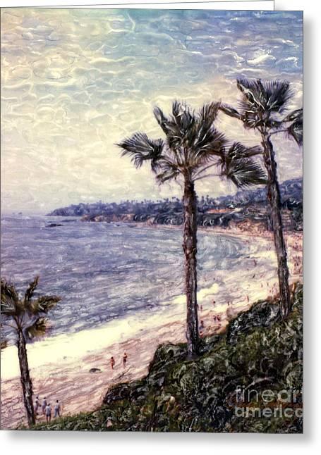 Laguna Beach Palm Vista Greeting Card by Glenn McNary
