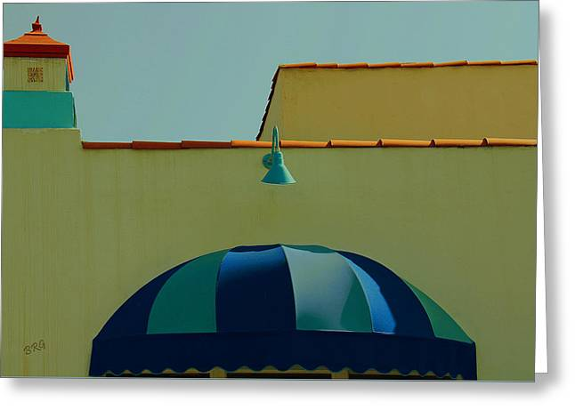 Laguna Beach Roof Greeting Card