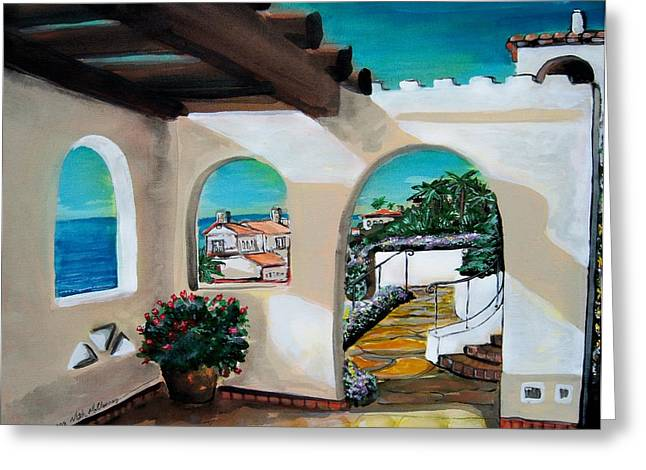 Laguna Beach Sun Patio Greeting Card by Mitchell McClenney