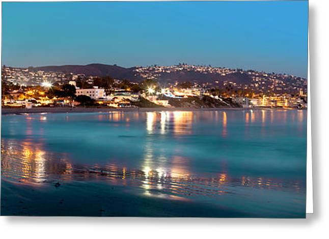 Laguna Beach Twilight Reflections Greeting Card