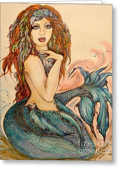 Laguna Blue Greeting Card by Valarie Pacheco