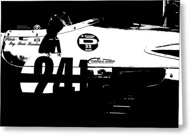 Laguna Seca Racing Cars 2 Greeting Card by Naxart Studio