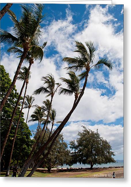 Lahaina Palms Greeting Card by Paulette B Wright