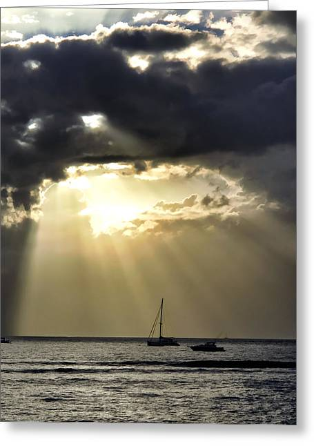 Lahaina Sunset 2 Greeting Card by Dawn Eshelman