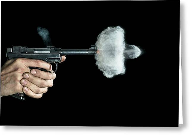 Lahti Pistol Shot Greeting Card by Herra Kuulapaa � Precires