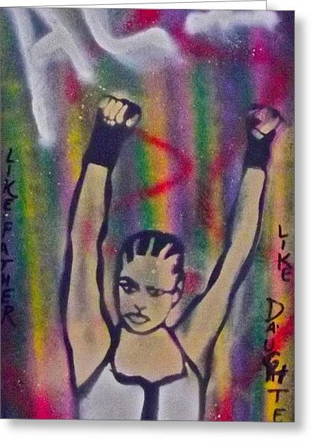 Laila Ali Greeting Card by Tony B Conscious