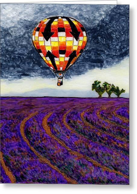 L'air Chaud Sur Sault Provence Greeting Card by Phil Strang