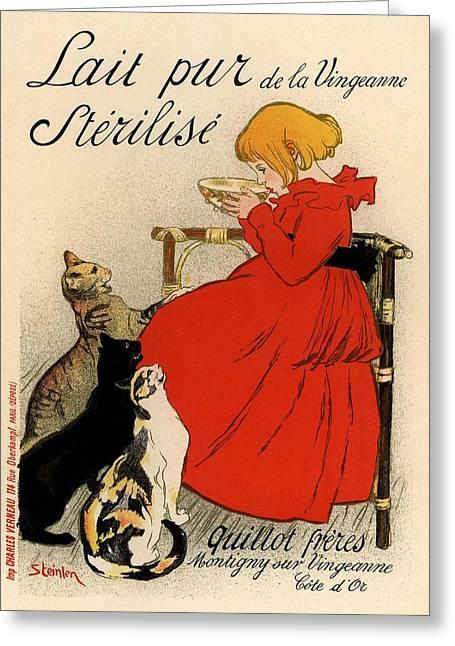 Lait Pur De La Vingeanne Sterilise Greeting Card