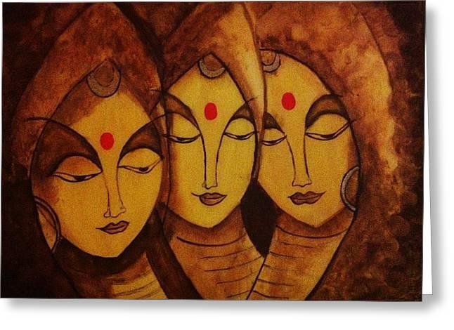 Lajja - The Indian Women Expression Greeting Card by Shraddha Tiwari