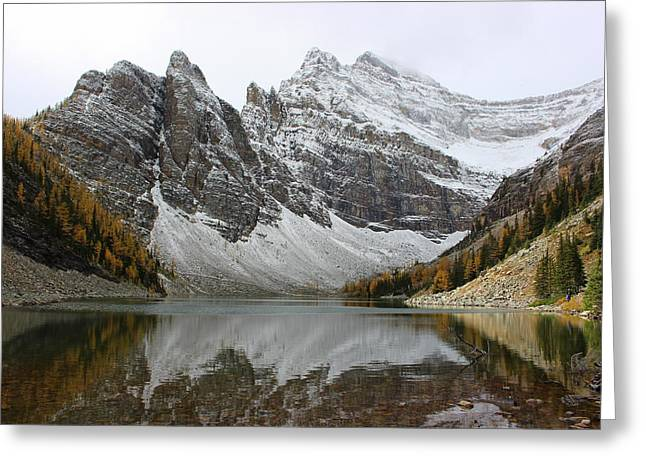 Greeting Card featuring the photograph Lake Agnes by Ramona Johnston