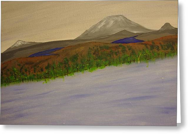 Lake And Mountains Greeting Card by Keith Nichols