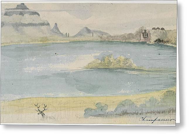 Lake At Champaneer Greeting Card