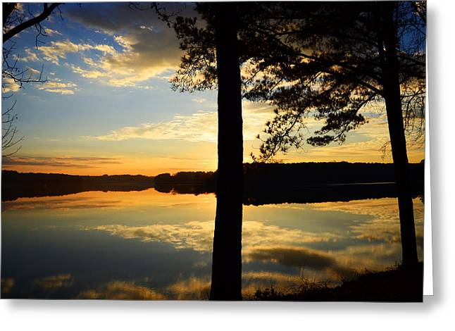 Lake At Sunrise Greeting Card