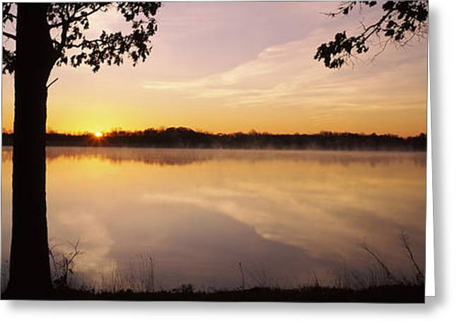 Lake At Sunrise, Stephen A. Forbes Greeting Card by Panoramic Images