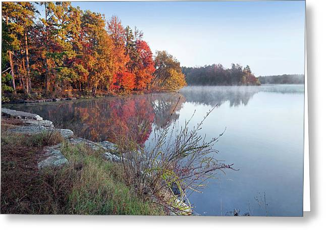 Lake Bailey At Sunrise, Petit Jean Greeting Card