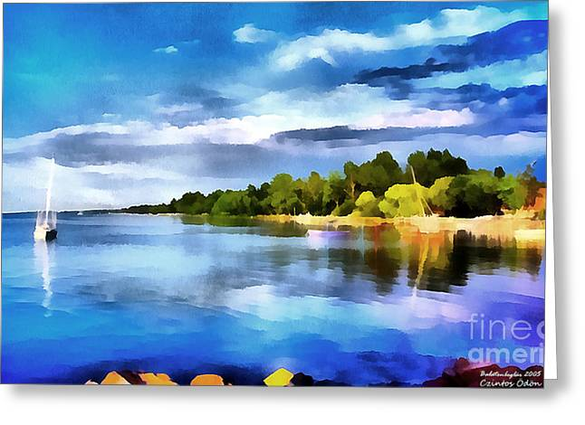 Lake Balaton At Summer Greeting Card