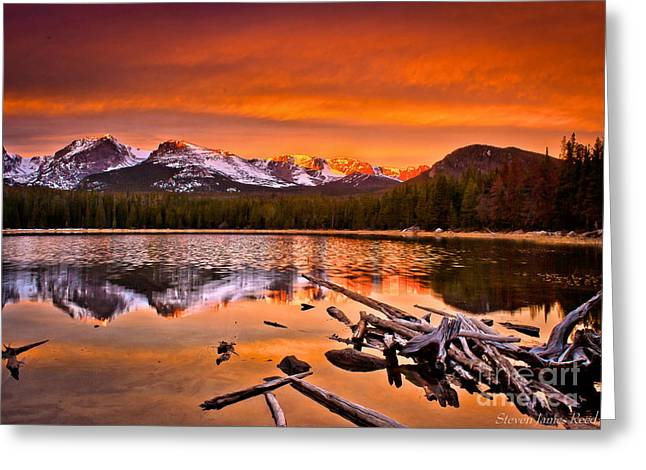 Lake Bierstadt In The Morn Greeting Card by Steven Reed