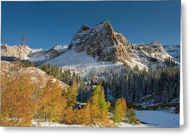 Lake Blanche Trail And Sundial Peak Greeting Card