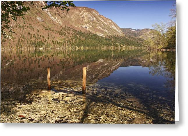Lake Bohinj Greeting Card by Graham Hawcroft pixsellpix