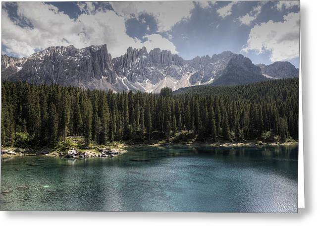 Lake Carezza Greeting Card