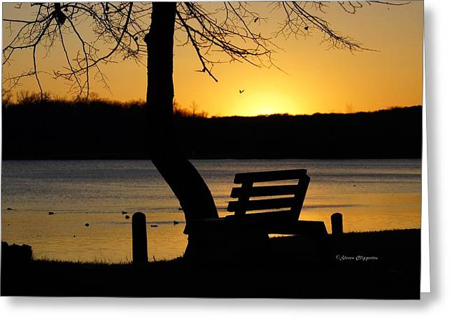 Lake Carlos State Park Sunset Greeting Card