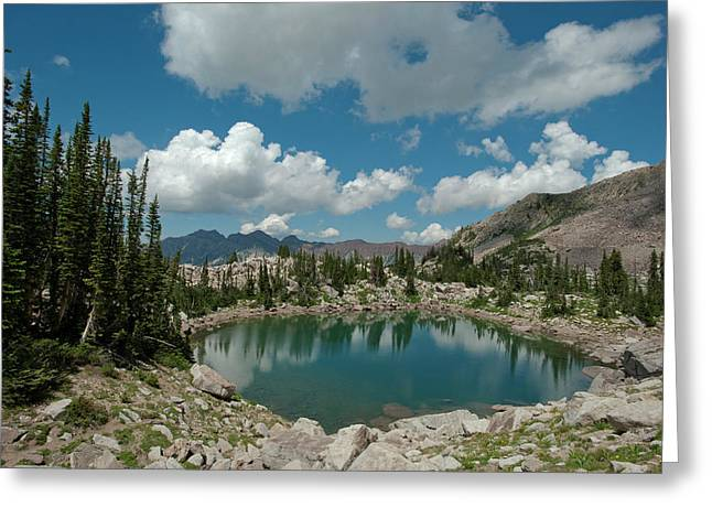 Lake Catherine, On The Brighton Lakes Greeting Card by Howie Garber