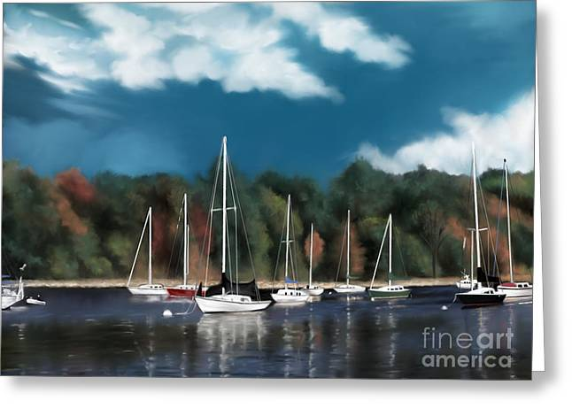 Lake Champlain Charlotte Vermont Greeting Card